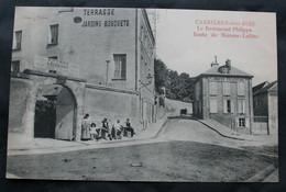 CPA Yvelines - Carrières-sous-Bois (78600) Le Restaurant Philippe Route De Maisons-Laffite – Gras Tabac – Non écrite. - Sin Clasificación