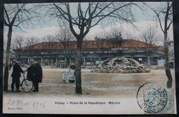 CPA Yvelines - Poissy (78300) Place De La République - Marché – Devin Edit.  – Animée - A Voyagé En 1906. - Poissy