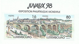 LUXEMBOURG-VIGNETTE 98 ET TIMBRES OBLITERES DIVERS-3 SCANS- - Colecciones