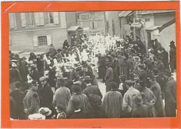 """LOZERE : MENDE : Procession, """"A La Sortie De La Place Au Blé, Vers Le Bd Du Soubeyran..."""" RARE Carte-Photo - Mende"""