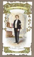 IMAGE PIEUSE.. édit. F. Sch. N. .. Souvenir De Première Communion.. COMMUNIANT - Devotieprenten