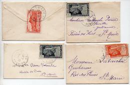 Réunion : Lot De 4 Mignonnettes Années 1935/36 Dont CaD De Sainte Marie Et Hell-Bourg - Briefe U. Dokumente