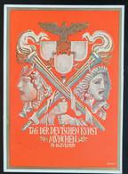 """Deutsches Reich 1939, Postkarte """"Tag Der Deutschen Kunst"""" MÜNCHEN Sonderstempel - Storia Postale"""