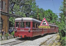 719 - Tramway Du Mont-Blanc, En Gare De Saint-Gervais-les Bains (74) - - Stations With Trains