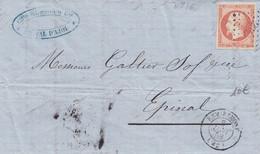 REMIREMONT : (88) Petit Chiffre 2645  Et C.15 Du 8 Janvier 1858 - 1849-1876: Klassieke Periode