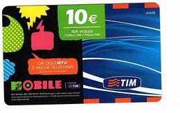 Ricarica Tim MTV10-S, ETU D3, MTV MOBILE, Taglio 10,00 Euro, Scad. Mar 2012 Pin In Rilievo Su Fondo Grigio - GSM-Kaarten, Aanvulling & Voorafbetaald