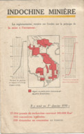 TB / Dépliant L' INDOCHINE MINIERE 1930 Asie Mine Etain Zinc - Public Works