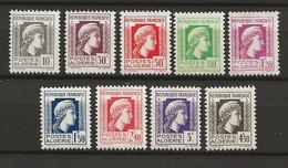 ALGERIE 1944 . Série N°s 209 à 217 . Neufs ** (MNH) . - Unused Stamps