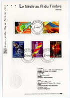 - Notice Philatélique Premier Jour PARIS 22.9.2001 - Pénicilline - Carte à Puce - ADN - Laser - 1er Homme Dans L'espace - Non Classés
