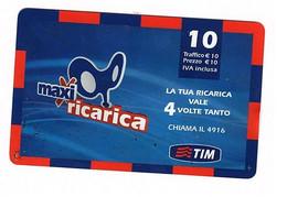 Ricarica Tim MXR10-K, ETU D3, MAXI RICARICA, Taglio 10,00 Euro, Scad. Mag 2010 - GSM-Kaarten, Aanvulling & Voorafbetaald