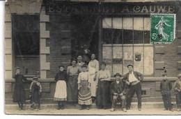 CARTE-PHOTO  AISNE 02 Estaminet A CAUWET 15 Rue De Paris (détruit Pendant La Première Guerre ) - Saint Quentin