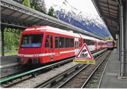 718 - Automotrices Z 850 Du St-Gervais-Vallorcine, à Chamonix (74) - - Stations With Trains