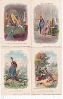 LOT103........15 ILLUSTRATIONS FABLES DE LA FONTAINE D Appres Gustave Doret ...texte Au Dos - 5 - 99 Cartoline