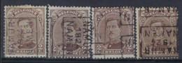 Albert I Nr. 136 Type I Voorafgestempeld Nr. 3249 A + B + C + D NAMUR  1924  NAMEN; Staat Zie Scan ! - Rollini 1920-29