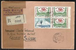 FRANCE 1959: LSC Rec. De Lens (PdC) Pour Genève - Covers & Documents