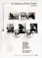 - Notice Philatélique Premier Jour PARIS 28.9.2002 - Le Siècle Au Fil Du Timbre - Vie Quotidienne - - Documents De La Poste