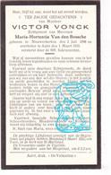 DP Victor Vonck ° Nieuwerkerken 1898 † Aalst 1933 X Maria Hortentia Van Den Bossche - Santini