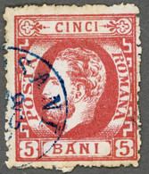 ROMANIA ROUMANIE RUMANIEN 1872 Yt: RO 33, King Carol I Of Romania (beard) - Used-hinged - 1858-1880 Moldavië & Prinsdom