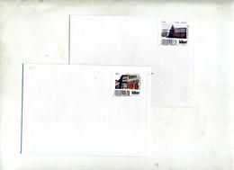 4 Lettre Poste Privée Biberpost Vignette Patrimone Divers - Affrancature Meccaniche Rosse (EMA)