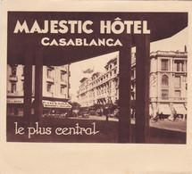 MAROC , CASABLANCA , MAJESTIC-HOTEL , Super Dépliant Publicitaire - Dépliants Turistici