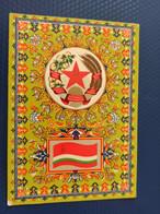 TAJIKISTAN - Postcard The State Emblem And State Flag Of The  Soviet Socialist Rep - 1967 - Tajikistan
