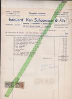 Factuur Facture Edouard Van Schoorisse, Peinure, , Ronse Renaix 1954 - Other