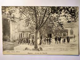 CPA  POPIAN (34) - Avenue De L' Aurèle - Belle Animation - TBE - Other Municipalities