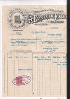 FATTURA COMMERCIALE -SANREMO -RAFFINERIA OLIO D OLIVA  A. ESCOFFIER -1919- - Italy