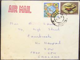 Zambia - Cover To England 1996 Birds Christmas - Kolibries