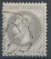Lot N°62311   Variété/n°27B, Oblitéré Cachet à Date, Trait Blanc Face A La Moustache - 1863-1870 Napoléon III. Laure
