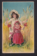 B31 /   Kinder Präge Litho Blumen Kornfeld  / Sehr Schön / Waldenburg - Geiersdorf - Dibujos De Niños