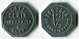 N93-0659 - Monnaie De Nécessité - Boën - Café Gerin - Cordonnier - 12 1/2 Centimes - Noodgeld