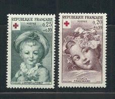 France: Au Profit De La Croix-Rouge N°1366/1367** - Unused Stamps