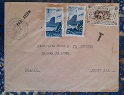 Saint-denis Réunion Pour Paris France ( Le 08 10 1948) Réunion - Covers & Documents
