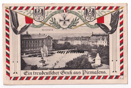 Pirmasens, Exerzierplatz, Flagge, Eisernes Kreuz, 1.Weltkrieg, Feldpostkarte 1915 - Pirmasens