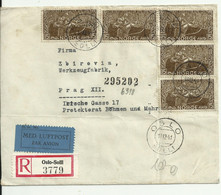 Censored Cover From Norway To Czechoslovakia. Registered, Airmail.1941. - Storia Postale