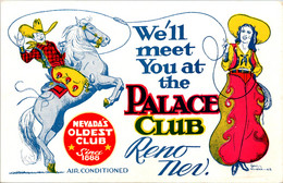 Nevada Reno We'll Meet You At The Palace Club - Reno