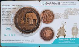 Turkey 2.5 Lira 2020. Nasreddin Hoca-The Elephant Story With Timur. COA. Mintage=5000. - Turquie