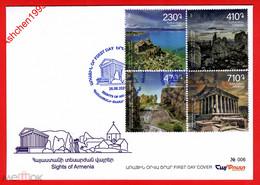 Armenien/Armenie 2021, Sights Of Armenia - FDC - Armenien