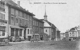 Romont Grand'Rue Et Couvent Des Capucins - 1916 - FR Fribourg