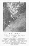 Broc F.Gremion Atelier D'Empaillage D'Animaux - Chamois - Renards - Aigle Gruyère - 1922 - FR Fribourg