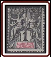 Guadeloupe 1876-1903 - N° 27 (YT) N° 27 (AM) Neuf *. - Nuevos