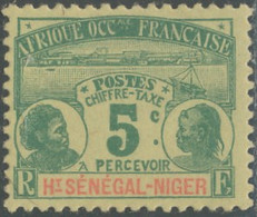 Haut-Sénégal Et Niger - Timbre-taxe N° 1 (YT) N° 1 (AM) Neuf (*). - Nuevos