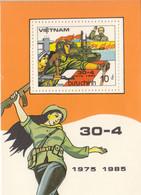 1985 Vietnam Military Victory   Souvenir Sheet MNH - Vietnam