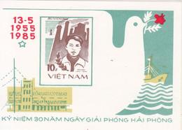1985 Vietnam Liberation Of Haiphong Military History   Souvenir Sheet MNH - Vietnam
