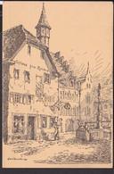 """Staufen ( Breisgau ) Gasthaus """" Zum Löwen """" Künstlerpostkarte  1916 - Staufen"""