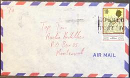Trinidad & Tobago - Cover To Montserrat Bird 10c Solo - Kolibries