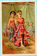 Belle Chromo Chocolat Guérin-Boutron. Les Danses. La Danse Javanaise. Lith. Vieillemard - Guerin Boutron