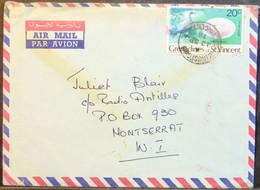 Grenadines Of St Vincent - Cover To Montserrat 1978 Bird 20c Solo - Gaviotas