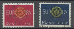 Europa CEPT 1960 Pays Bas - Netherlands - Niederlande Y&T N°726 à 727 - Michel N°753 à 754 (o) - 1960